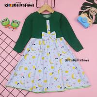 Gamis Pita Uk 1-2 Tahun / Gamis Anak Baju Dress Muslim Ngaji Murah