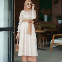 Setelan Celana Wanita Terbaru Lilo Set Setelan Baju Muslim Wanita
