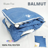Bantal Traveling Dewasa Balmut Lipat Halus 100x150cm Bluee Fox