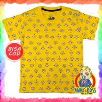 Kaos Baju anak laki-laki motif Minion Fullprint 1-10 thn anak boss - 1-2
