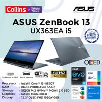 ASUS ZENBOOK FLIP UX363EA i5-1135G7 8GB 512GB IrisXe 13.3 FHD W10 OHS