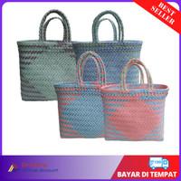 Tas Anyaman Plastik Premium Murah / Tas Belanja Pasar Anyaman Plastik