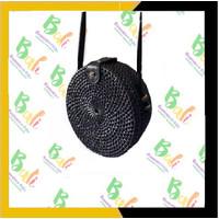 authentic Balinese handicraft souvenirs Tas bulat Bali motif 15cm