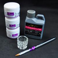 Peralatan Nail Art Portable Tool Kit Set Crystal