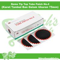 Karet Tambal Rema Tip Top Ban Dalam No 4 Ukuran 54mm Isi 30Pcs