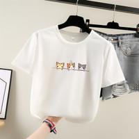 Kaos Impor Kucing Wanita Baju Kaus T Shirt Lengan Pendek