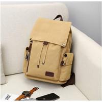 Tas Ransel Backpack Kanvas Kuliah Kerja Laptop 14 Inch Pria Wanita 01
