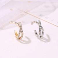 anting clip retro diamond ear clip 1pcs jan237