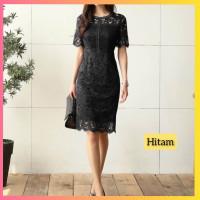 baju dress pesta anak 16-22thn perempuan remaja graize gaun hitam