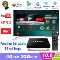 Android 10 smart TV BOX HX1max 4k media player 4GB +32GB Full HD - tv