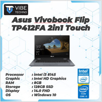 LAPTOP Asus Vivobook Flip TP412FA 2in1 Touch i3 8145 4GB 128ssd W10 14