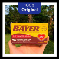 Obat Bayer Aspirin 100 Tablet @325mg - Pain Reliever & Fever Reducer -
