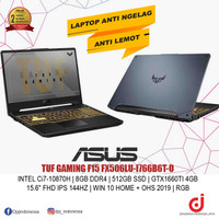 ASUS TUF GAMING F15 FX506LU-I766B6T-O, INTEL Ci7-10870H, 8GB, 512GB