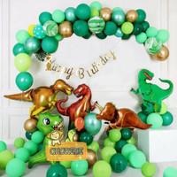 Paket Dekorasi Hiasan Balon Ulang Tahun Happy Birthday Dinosaurus