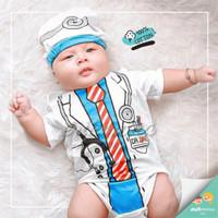 baju jumper bayi karakter dokter lucu
