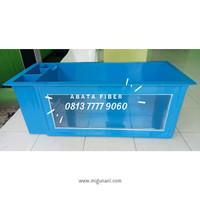 Bak Fiber Kombinasi Filter Samping dan Kaca 10mm UK. 150 x 60 x 60 cm