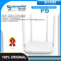 Tenda F9 Wireless Router 4 Antena 600 Mbps
