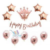 Paket Dekorasi Balon Ulang Tahun / Happy Birthday Tema Rose Gold 07
