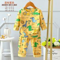 Piyama Dino/setelan anak import/baju tidur anak laki-laki 4-9th - 70