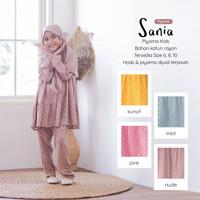 Piyama Kids Setelan Baju Tidur Anak Perempuan Muslimah Rayon