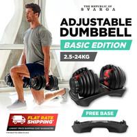 Svarga Adjustable Dumbbell 24kg - Barbel Dumbell Barbell Fitness & Gym