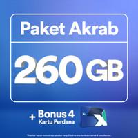 Kartu Perdana XL Akrab hingga 260GB, 4 Anggota, 30 Hari