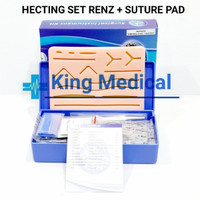 Hecting Set Renz + Suture Pad untuk Latih/Belajar Jahit Luka