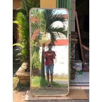 Standing mirror full body minimalis 180 x 80 cm jati natural bleaching
