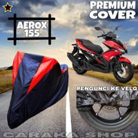 Cover Motor AEROX 155 Hitam MERAH Anti Air PREMIUM