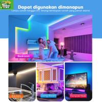 Lampu LED Strip 2m + Adaptor Support App Google Home Alexa