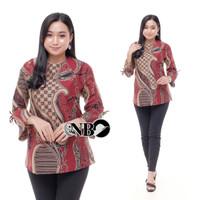 Blouse batik wanita / Atasan Batik Wanita / Baju Batik Kerja - Blouse