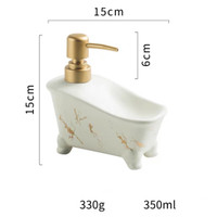 Volakas & Marquina Tub Dispenser - Volakas White