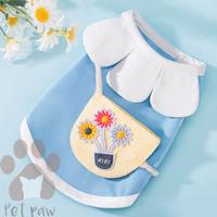 Petpaw Baju Anjing Kucing Flower Top Blue Premium Import