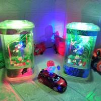 Akuarium Aquarium Ikan Cupang Guppy Hias Pakai Lampu led Full Hiasan - renboww