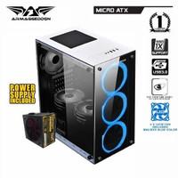 Casing gaming armageddon Nimitz TR1100 include Power Supply & Fan case