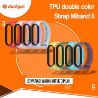 MIJOBS Strap Silikon Mi Band 6 DOUBLE COLOR Tali Replacement MiBand 6