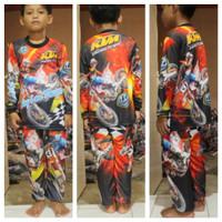 setelan baju motor cross jersey setelan baju trail anak size 10-14
