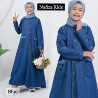Gamis Anak Tanggung Gamis Anak Jeans Baju Muslim NAFIZA KIDS 8-10 th