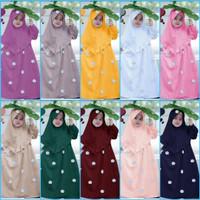 baju muslim gamis anak MISHA ROSE. 4-7 tahun