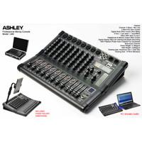 Mixer Ashley LM8 LM 8 Channel USB Recording SM PC SOUNDCARD + KOPER