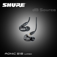 Shure Aonic 215 Wired Sound Isolating Earphones with Mic / SE215