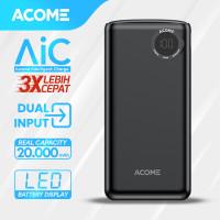 ACOME Powerbank 20000mAh Fast Charging LED Display Dual input AP202