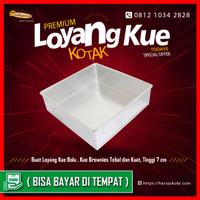 Loyang Kue Premium Kotak Persegi Bolu dan Brownies Tebal Anti Penyok