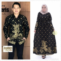 Baju dress gamis wanita couple batik sarimbit prada keris kemeja pria