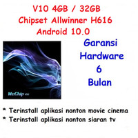 Hiplay V10 Android TV Box 4GB 32GB Allwinner H616