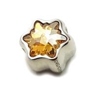 Perhiasan Liontin Charm Swarovski - Pave Edelweiss Golden by AR Hestia