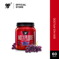 BSN N.O-Xplode 2.5lbs Pre Workout Energy Drink - Grape