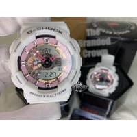 JAM TANGAN Casio G-SHOCK GA110 White Pink Sport Watches