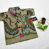 Baju batik anak + baju batik anak laki-laki + batik halus +batik tulis - A5, S