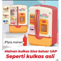 (39 SET MAINAN) Mainan kulkas anak bisa keluar uap asli